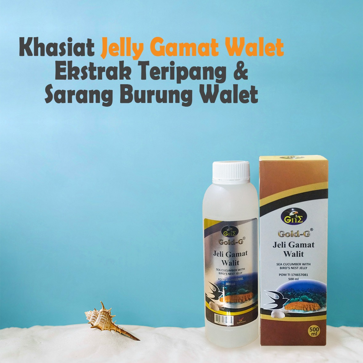Gold G Herbal Jelly Gamat Sea Cucumber 500ml 6 Botol Page 3 500 Source Khasiat