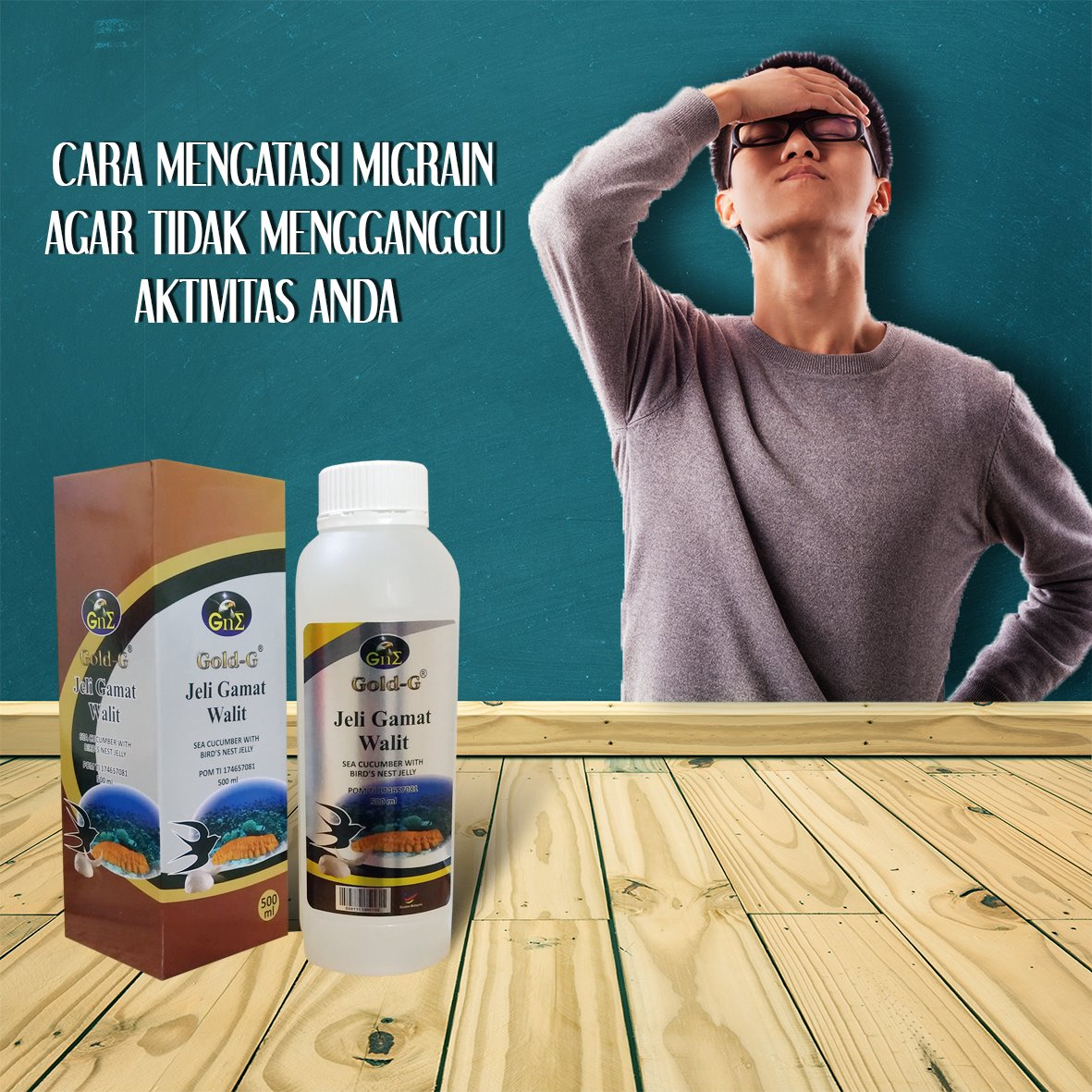 Obat Ampuh Migrain Gold G Jelly Gamat Walet