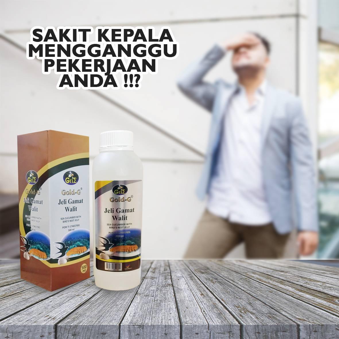 Obat Ampuh Sakit Kepala Jelly Gamat Walet Pusat Jelly
