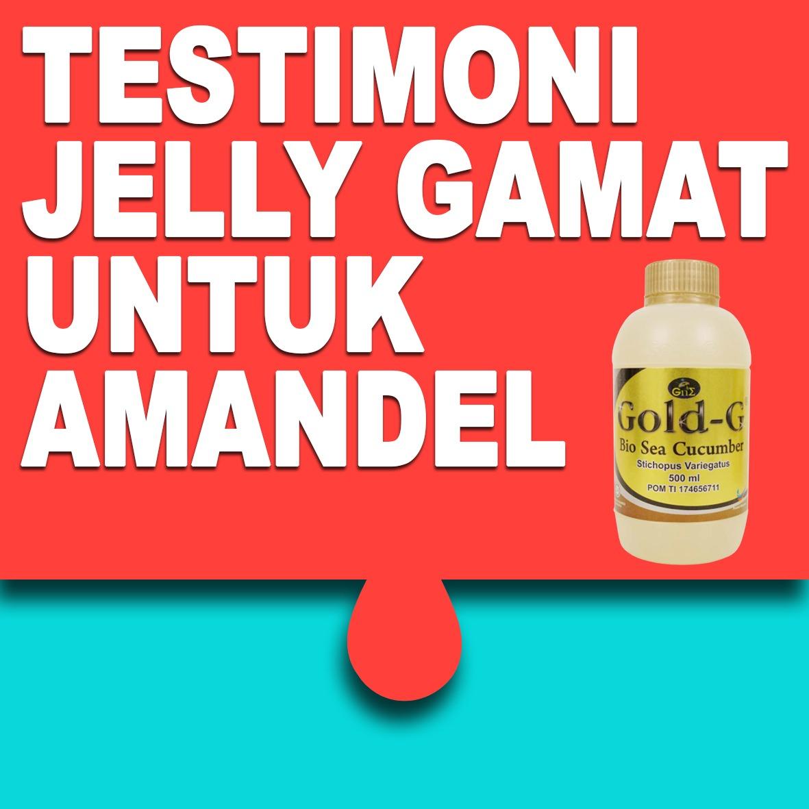 Testimoni Jelly Gamat Gold G Untuk Amandel